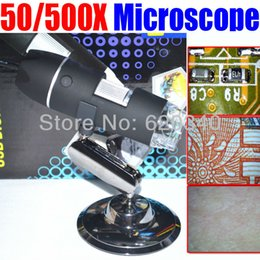 Wholesale Magnifying Glass Usb - 500 X USB Electron microscopic digital magnifying glass,for Industrial testing (textile), with measurement order<$18no track