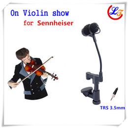 Violões profissionais on-line-Condensador de Lapela profissional Viola Mandolin Violino Microfone Instrumento Microfone para Sennheiser Sistema Sem Fio TRS 3.5mm