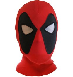 Wholesale Adult Cartoon Hats - Deadpool Mask JLA Balaclava Halloween Costume party Cosplay X-men hooded cap adults children Hat terror cartoon Full Face Mask gift red