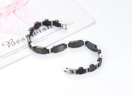 Wholesale Energy Negative Ion Bracelet - DA65 negative ion germanium titanium popular cuff luxury charm fashion personalized energy men bracelet bracelet glass