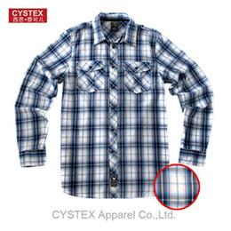 Wholesale Shirt Epaulets - Wholesale-Shirt Men Brand Shirt Casual Plus Size Long Sleeve 100% Cotton Basic Dress High Quality Epaulet Soft Washed Europen Size L