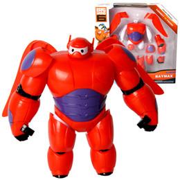 Wholesale Assemble Robot - HOT New diy assembled BIG HERO 6 BAYMAX MECH 16cm PVC Cartoon Movies Robot Action Figure Doll fat man large children kid toy gift