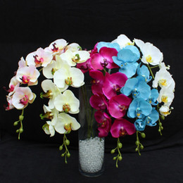 Wholesale orchid sales - 78cm 50pcs Best Simulation Butterfly Orchid Phalaenopsis Flower Home Decorative Flowers Party Wedding Event Decoration Hot Sale