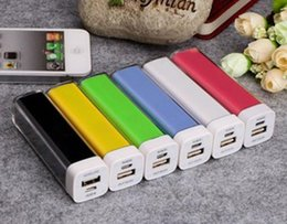 Wholesale Note2 4g - 2600mAh Power Bank Charger Lipstick Portable Emergency External Battery Charger for Galaxy i9500 i9300 Note2 N7100 iphone 5 5S 5C 4 4G