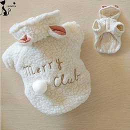 Wholesale Sheep Small - Fashion Pet Costume Small Dog Clothes Coat White Sheep Puppy Hoodie Chihuahua Clothing In Winter Warm Apparel XS S M L XL 116