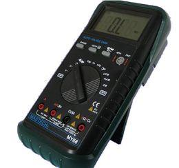 Wholesale Lcd Volt Amp Display - MASTECH MY68 Handheld Digital Multimeter LCD Display Multimetros AC DC Volt Amp Ohm Frequency Capacitance Transistor Test order<$18no track