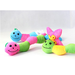 interactive puppy toys Coupons - Dog Toys Pet Puppy Chew toys Squeaker Squeaky Plush Sound Colorful Bug Toys 3 Colors Pets Sound Toys YC0064