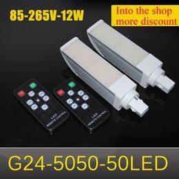 Wholesale G24 Led 22w - 12W G24 5050 50LED 2000LM G24 LED Corn Light 50LEDs 5050SMD AC85V-AC265V Warm White   White Free Shipping CE&ROHS