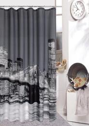 Wholesale New York Shower - New York City Shower curtain bath shower curtain bath curtain bathroom curtain hooks quality curtain printing screen waterproof