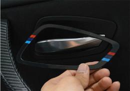 Wholesale Bmw Door Handle - Door Handle frame decoration cover trim 4pcs for BMW 3 series E90 2005-12 Car styling Doorknob interior accessories