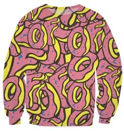 w15121212 пончики нечетные будущее пончик Тайлер Ofwgkta Crewneck кофты женщины мужчины пончики печати пот перемычка спортивные топы бег толстовка cheap donut sweatshirt от Поставщики пончик-пончик