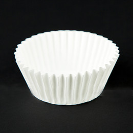 Wholesale White Paper Muffin Cups - Approximate 200pcs(2x100pcs) White Paper Cake Cup Liners Baking Cup Muffin Kitchen Cupcake Cases Free Shipping
