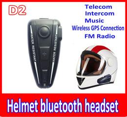 Wholesale Bt Interphone Bluetooth Motorcycle - wholesale hot helmet bluetooth headset 500M BT Intercom Headset Helmet BT Interphone For Motorbike Motorcycle hand free Headset Speaker