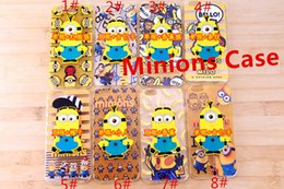 Wholesale Case Minions Tpu - 3D Despicable Me Minion Soft Silicone Gel Case Cover for Apple iPhone 5 5s Iphone 6 6s New