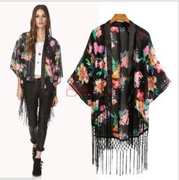 ad83b216ba Hexin New Cardigan 2015 Plus size Kimono Vintage Floral Fringe Women  Chiffon Blouse Causal Shirt Factory direct supply