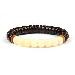 Wholesale Natural Seeds Jewelry - New Religious Jewelry Wholesale 10pcs lot Natural Daye Rosewood Beads& White Bodhi Seed Tibetan Buddhist Handmade Meditation Prayer Bracelet