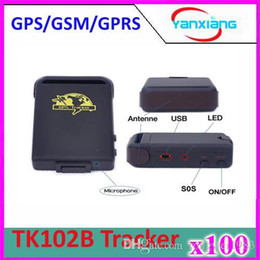 Wholesale Gps Tracker Hard Wire - 100pcs GPRS GSM GPS car personal Tracker ,Vehicle mini GPS Tracker TK102B+Hard wired car charger,,free shipping ZY-DH-05