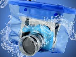 Wholesale Dslr Housing - Best price New20M Waterproof DSLR SLR digital Camera outdoor Underwater Housing Case Pouch Dry Bag For Canon for Nikon 50pcs 1119#19
