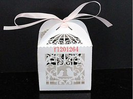 Wholesale Sweet Packing Box Wholesale - 1000pcs lot Free Shipping Wedding Banquet Mini Candy Boxes Birds Heart Design Sweet Gift Packing Chocolate box