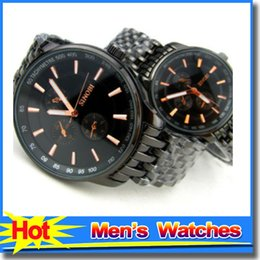 Wholesale Sinobi Stainless Steel Black - Fashion Brand SINOBI Couple Watches Cool Black Scale Exquisite Stainless Steel Men Women Watches Retro Dress Wristwatch