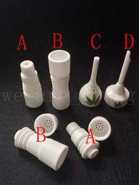 Wholesale Ceramic Nail Designs - New Design Ceramic nails 14mm&18mm male or female Domeless Ceramic nails Ceramic Carb Cap vs GR2 Titanium Nail Quartz nail