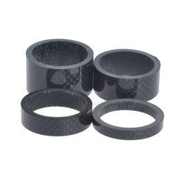 "Wholesale End Grips - 4Pcs 1 1 8"" 5mm 10mm 15mm 20mm Carbon Fiber Washer Bike Bicycle Headset Stem Spacers Kit"