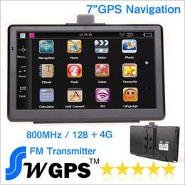 Wholesale Automotive Window Screens - 7 inch Car GPS navigator navigation GPS wince 6.0 800MHz 128M 4G 800*480 FM tansmitter free USA europe newst maps