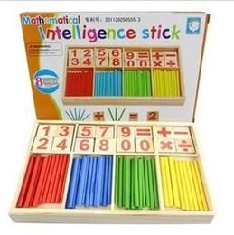 Heiße stangen spielzeug online-Hot Rod Holz Holzspielzeug Intelligenz Spielzeug Bausteine Montessori frühen Kindheit Mathematik Bildung Geschenk versandkostenfrei