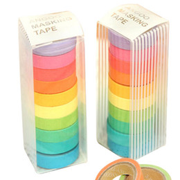 Wholesale Masking Tapes - New high quality bright candy solid color washi masking tape washi tape 2016 paper tape