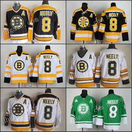 Wholesale Green Cam - Boston Bruins Cam Neely Jerseys Throwback, Cheap Black Home White Yellow Winter Classic Bruins #8 Cam Neely Ice Hockey Jerseys