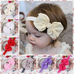 Wholesale Lovly Girl - Girl tiara Lovly children Headbands 2016 fashion hight quality Children headdress chiffon bow hair band girl tiara