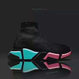 Wholesale Mesh Booties - [Original Box]New Luxury Womens And Mens Socks Booties Ladies High Top Round Head Spring Tpu Sports Boots Sneaker Size 35-444