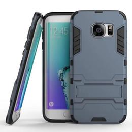 Oppo A39 Için zırh Hibrid Vaka Samsung Galaxy J3 Başbakan A3 A5 A7 2017 S7 Kenar On7 HTC Desire 10 828 Sert PC + TPU Darbeye Cilt Kapak Standı cheap desire hard case nereden sert vakayı arzulamak tedarikçiler