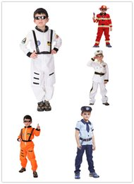 Wholesale White Pirate Costume - Boy Halloween Costumes For Kids Navy Policeman Astronaut Pilot Party Cosplay Costume Pirate Costume Boy Christmas Costume