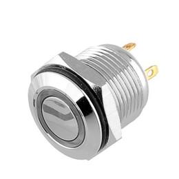 Wholesale Waterproof Push Button Switch Led - 1PCS 16mm OD Blue LED Ring Illuminated Push Button Pin Terminals WaterProof Free shipping, dandys