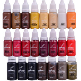 Wholesale Micro Pigment Cosmetic - 6 PCS lot England KIAY Eyebrow Eyeliner Lip Permanent Makeup Tattoo ink Micro pigment Cosmetic Colors