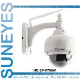 Wholesale Low Lux Dome Camera - SunEyes SP-V706W Wireless PTZ Dome IP Camera Outdoor 720P HD with 2.8-12mm Optical Zoom Auto Focus 1 3 Sensor Low Lux IR Night