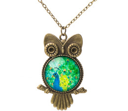 Wholesale Cheap Owl Gifts - Fashion Women Girl Statement Necklaces Chains Owl Necklaces for Christmas Gifts Holiday Love Gifts Cheap Sale