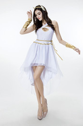 Wholesale Halloween Greek Costumes - 2017 New Arrival Adult Women Greek Goddess Dress White Sexy Cosplay Halloween Costumes Stage Performance Clothing Hot Selling