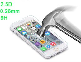 Wholesale Gorilla Glass Screen - 0.26mm 2.5D 9H Gorilla Tempered Glass LCD Screen Film Shatter & Scratch-Proof Screen Guard for iPhone 6 6S Plus 5S 5C 4S