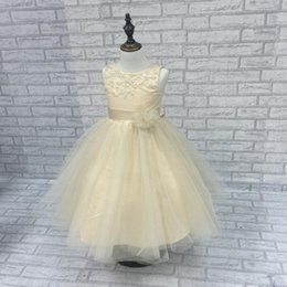 Wholesale Gold Prices Year - 2017 free shipping lowest price kids Halloween flower girl dress 2-10 years Easter costume party girl dress