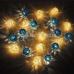 Wholesale Christmas Plug Nightlights - Wholesale-2m Sepak Takraw Ball Wedding Holiday New Year Christmas Garland Decoration Nightlight flasher Christmas Strip Light EU US Plug