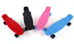 Wholesale Retro Cruiser Skateboard - Wholesale-New Skateboard Board Backpack Mini Longboard Boy Girl Retro Cruiser Skateboard Skate Board Complete 12