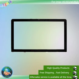 Wholesale Imac Screen - 50PCS Front LCD Outer Glass Lens Screen Replacement for iMac 21.5'' MC508 MC509 MB413 A1311 MC813 MC510 a1312 free DHL
