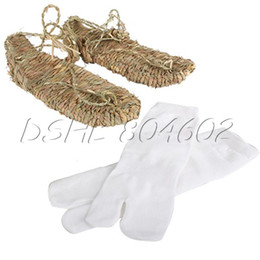 Wholesale Wholesale Anime Shoes - Wholesale-DSHL Lightweight Cosplay Bleach Straw Sandals Slipper Shoes for Anime fans