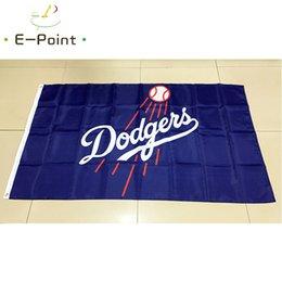 Wholesale Dodgers Banner - Los Angeles Dodgers Major League Baseball (MLB) 3*5ft (90cm*150cm) Polyester flag Banner American decoration flying home & garden flag