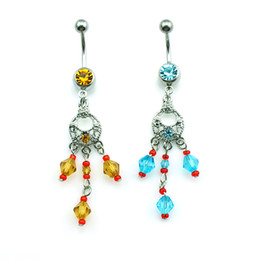 Wholesale Diy Belly Button Ring - Hot Sale! DIY New Arrival Wholesale Price High Quality Fashion Tassels Anchor Belly Button Rings for Women Jewelry