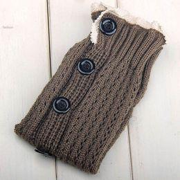 Wholesale Lace Socks For Boots Wholesale - Wholesale-Leg Warmers For Women Button Down Boot Cuffs Lace Trim Gaiters Boot Socks Crochet Leg Warmers Knit Leg Warmer 2015 25