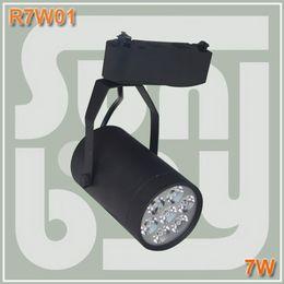 El foco de luz más alto online-Luz de la pista del envío libre LED 7W alto lumen de alta calidad de dos cables base de iluminación comercial spotlight