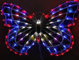 Wholesale Clothes Stores Decoration - Outdoor lamp lights chandeliers wedding clothing store window decoration supplies 50 cm big butterfly bowknot activities